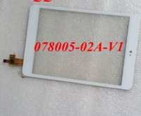 """White new 7.85"""" inch Tablet 078005-02a-v1 touch screen Touch panel Digitizer Glass Sensor Replacement Free Shipping"""