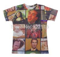 2015 new men/women 3D T-shirts print Nicolas 3D Tops T-shirt S M L XL XXL