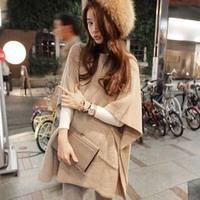 9839 cloak sweater female all-match loose pullover sweater women's top outerwear