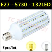 2014 Ultrabright SMD 5730 E27 LED Lamp 35W 132led AC220V-240V Warm White/White Corn Bulb Light For Christmas decoration 5pcs/lot