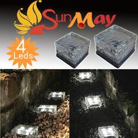 outdoor Solar 10 CM Light Garden With 4 Lights ,Solar Led Deck Underground Lawn Light decoration light