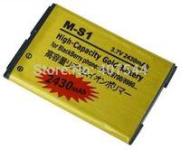 DHL  shipping 100pcs/Iot  Gold 2430mAh Battery For  Blackberry M-S1 MS1 BOLD 9000 9700 9780 BAT-14392-001