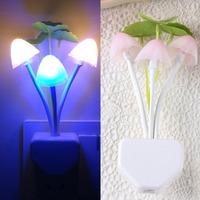 Colorful Romantic LED Mushroom Night Light DreamBed Lamp Home Illumination 220v/110v free shipping