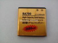 DHL  shipping 100pcs/Iot  Gold 2680mAh Battery For  Sony Ericsson BA700   E C1504 / C1505   E Dual