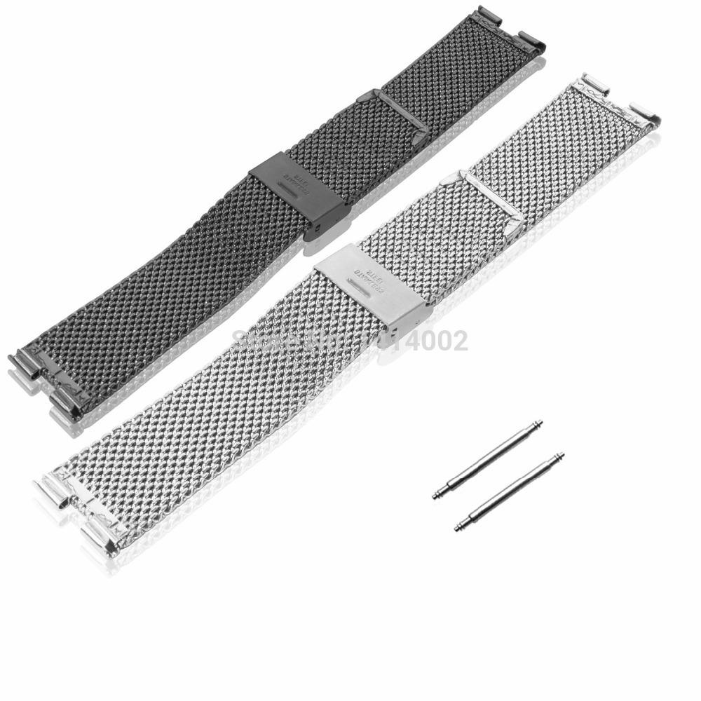 Grátis frete bloqueio em tipo de malha de Metal pulseira assista pulseira banda Strap para Moto 360 inteligente Watch Phone moto360 prata + preto(China (Mainland))