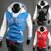 2014 Hot Casual Men's Jacket Baseball Fashion Jackets Print Hoodies Cardigan Coat Male Outwear Jackets Free Shipping W2300700
