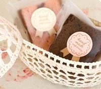 120pcs/lot diy baking food packing hand made stickers cookie cake medal seal sticker Packaging hand made Label