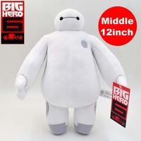 white plush dolls The Frozen OLaf snowman  Big Hero 6 Baymax Stuffed 12inch Plush Robot Doll marvel robot