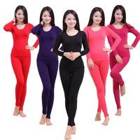 Thermal Underwear Women Hot Sale Winter Antibiosis Warm Long Johns Underwears Top + Pant Sexy Slim Comfortable