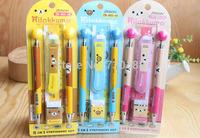 Cute Cartoon RILAKKUMA Mechanical Pencil Ballpoint Pen Ruler Refill Eraser Stationery Supplies