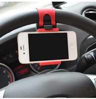 suporte para celular no carro Universal Car Steering Wheel Mobile Phone Holder for iPhone 4S 5 5S 5C Galaxy suporte celular