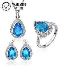 10sets/lotFVRS057 2015 new fine jewelry sets Extravagant Party jewlery set for lady Fashion Big Crystal set