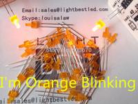 2mm tower Orange Blinking LED LBT28O1D-Flashing Orange Diffused