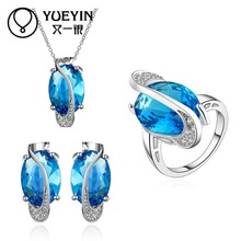 10sets/lotFVRS012 2015 new fine jewelry sets Extravagant Party jewlery set for lady Fashion Big Crystal set