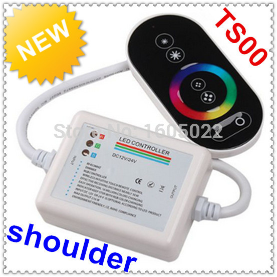 DC12V-24V full touch RGB controller with remote controller wireless color controller(China (Mainland))