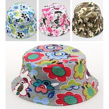 1PC Free Shipping 30 Styles Kid Baby Flower Printed Hat Fashion Children Bucket Summer Hat FZ2179#RJ8D(China (Mainland))