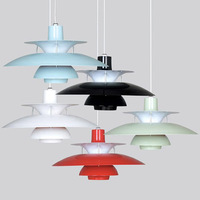 Poul Henningsen PH5 chandeliers lamp 50cm Aluminum painted white light fixture dia480mm