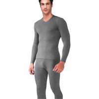 men's clothing stretch cotton V-neck thermal underwear set thermal underwear+johns/men's long johns/men's winter underwear