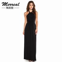 6XL Plus Size  2014 Vestidos Femininos Women's Sleeveless Sexy Clothing Elegant Black Dinner Design Long Maxi  Party Dress