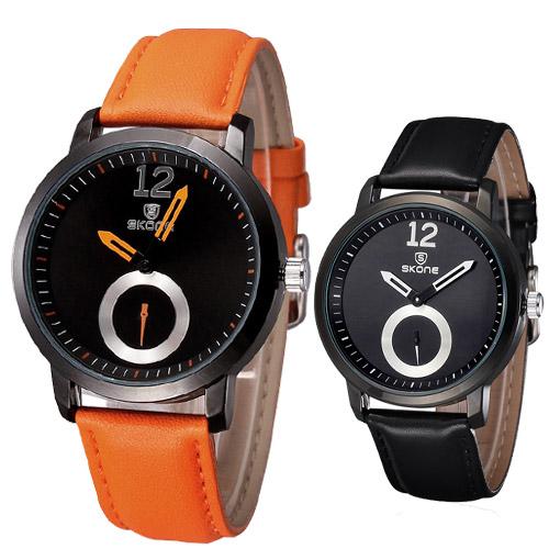 Original Brand SKONE Men Watches Sport Quartz Watch Leather Strap Wristwatches Fashion Luxury Reloj Hombre Relogios Masculinos(China (Mainland))