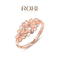 2015 ROXI -Fashion Peacock Crystal bracelet Bangle AAA zircon women bracelet charm bracelet christmas gift fashon jewelrys