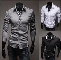 2014 new Camisa Roupas Masculina slim Shirt Men Hombre fashion men shirt men's leisure long-sleeved shirts men M-XXXL