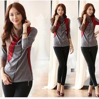 New Autumn Winter Korean Womens Long Sleeve Tops Slim T-Shirt With Cotton Long-Sleeved Women T-Shirt