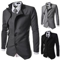2015  New warm men irregular design  Slim small suit  free shipping