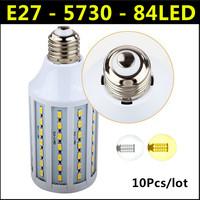 Hot Ultrabright SMD 5730 LED Lamp 25W E27 84led AC 220V-240V Warm White/White Corn Bulb Light For Christmas decoration 10pcs/lot