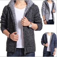 New Arrival Men Winter Coat Hoodie Jacket Outwear Winter Thermal Hood Warm Coat Jacket Plus Size Sweater M-XXL