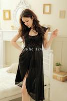 Pajamas Ladies sexy Summer ice silk lace thin Sleep dress Lounge Pyjamas Women's Nightgowns 50001