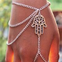 2015 new fashion Fatima hand  tassel  Bracelet SL-001