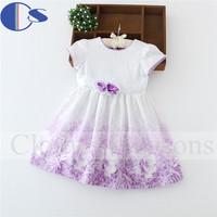 2015 Latest Design Roupa Meninas Vestir Children Clothing Baby Girls Summer Girls Print Flower Lace Cotton Casual Girls Dress