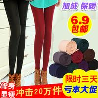 7528 autumn and winter plus velvet thickening legging female winter 2014 thermal high waist