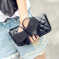 Quilted Clutch Messenger Bag Fashion Handbags Woman Temperament Evening Bag Chain Messenger Bag