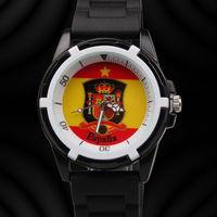 Free Shipping fashion & casual men sports watches Spain football fans souvenir silicon quartz watch waterproof relogio masculino
