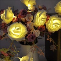 3M 20 LED Rose Flower Fairy String Lights Wedding Party Christmas Decoration NEW
