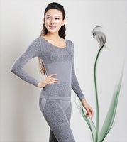 Modal seamless waist home pajamas thermal women suit