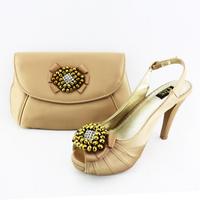 NEW Arrival Fantastic Rhinestone Mesh Retro Women Shoes Heel Pumps Women Cltuch Evening Shoes Bag Combine