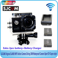 Free shipping!!SJCAM Original SJ4000 WIFI Diving 30M Waterproof Action Camera  Gopro style+Extra 2pcs battery+Battery Charger