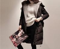 205 winter fashion down coat medium-long female slim wadded jacket