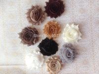 "Wholesale~2.5"" Rose Chiffon lace flower , Shabby Chic Frayed flower trim 129yards/lot for Lisa Jhonson"