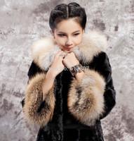 Free shipping 2014 new fur coat haining imitated mink coat the whole long female mink