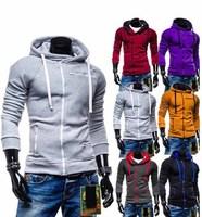 2014 Hot Casual Men's Jacket Baseball Fashion Jackets Print Hoodies Cardigan Coat Male Outwear Jackets Free Shipping 871100