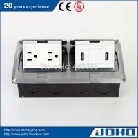 DCT-638/LBD IP44 Waterproof Aluminum Slow Pop Up Type Legrand Floor Box