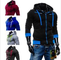 2014 Hot Casual Men's Jacket Baseball Fashion Jackets Hoodies Coat Male Outwear Jackets Free Shipping HY01