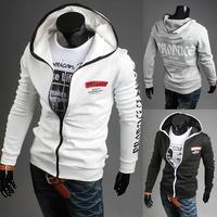 2014 Hot Casual Men's Jacket Baseball Fashion Jackets With hood Coat Male Outwear Jackets Free Shipping W1900700