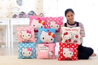 3 IN 1 Hello Kitty Cushion 32*32cm &Hand Warmer& Air conditioning Blanket 100*150cm New Soft Pillow