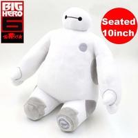 white plush dolls The Frozen OLaf snowman  Big Hero 6 Baymax Stuffed be seated 10inch Plush Robot Doll marvel robot
