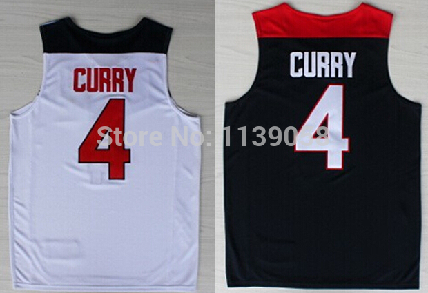 A+++Top Quality USA Dream Team Authentic #4 Stephen Curry Basketball Shirt Curry Basketball Jersey With Free Shipping(China (Mainland))